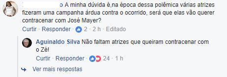 Aguinaldo Silva defende José Mayer e vai para a geladeira de Sonia Abrão