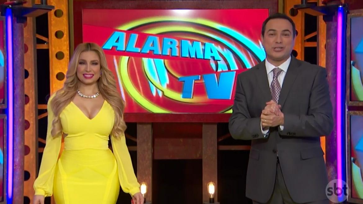 Os apresentadores de Alarma TV