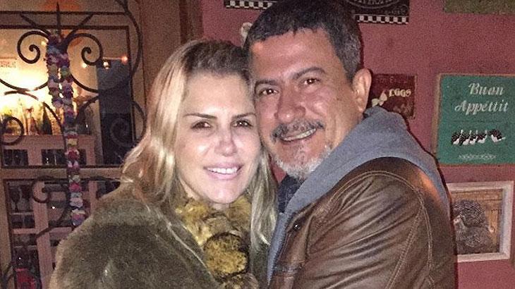 Alessandra e Tom Veiga abraçados