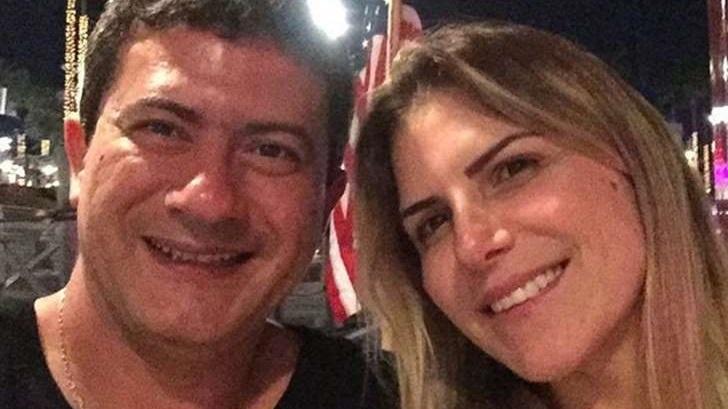Tom Veiga ao lado da ex-mulher Alessandra Veiga