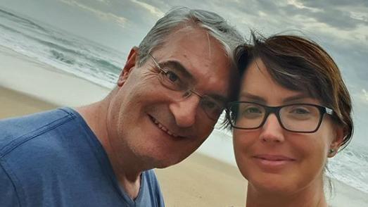 Alessandra Iscatena e o marido