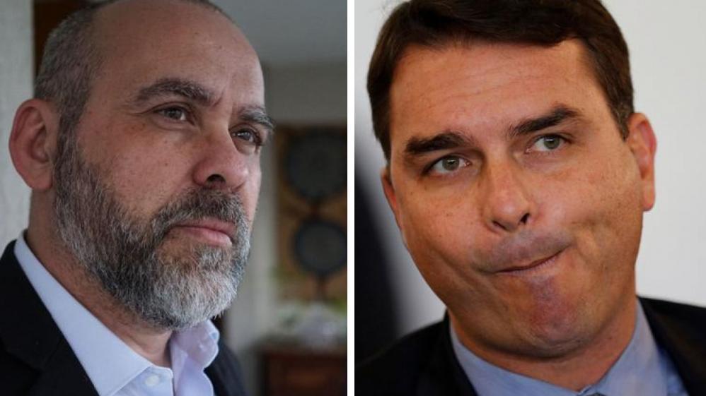 Alexandre Borges e Flávio Bolsonaro