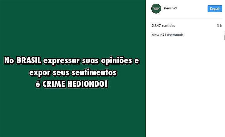Marido de Ana Hickmann diz que perdeu R$ 25 mil com greve geral e é detonado na web