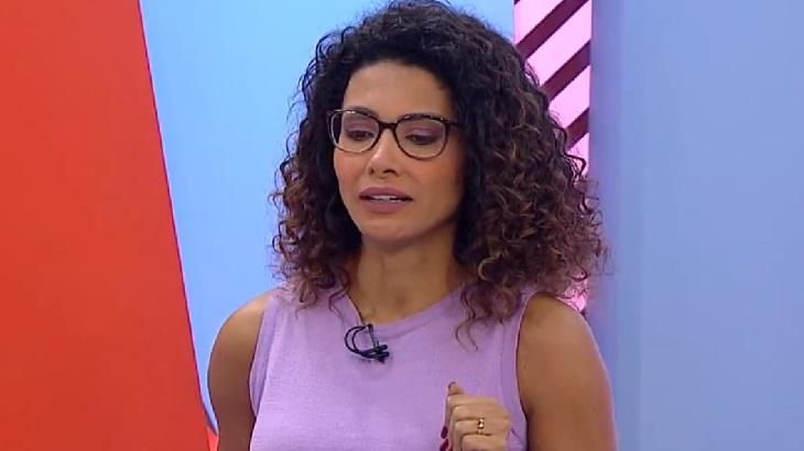 Jornalista da Globo Minas, Aline Aguiar chora em participação no Globo Esporte do Dia da Consciência Negra