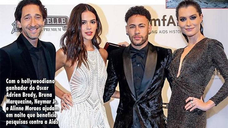 """Alinne Moraes diz que foto ao lado de Neymar e Bruna Marquezine é """"fake"""""""