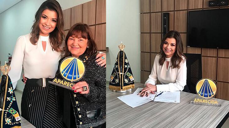 """Amanda Françozo assina contrato com a TV Aparecida: \""""feliz e honrada\"""""""