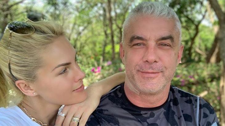 Ana Hickmann com olhar de apaixonada para Alexandre Corrêa