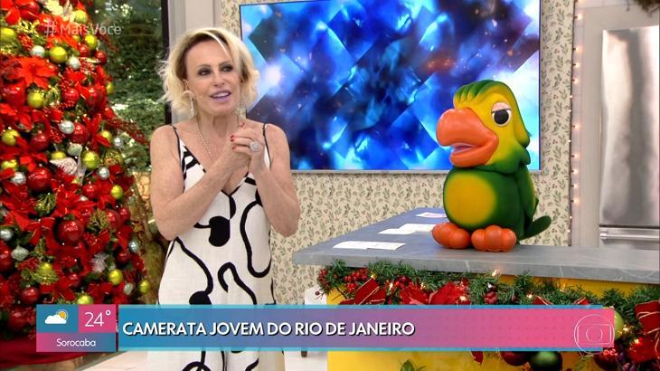 Ana Maria Braga e Louro José durante o Mais Você