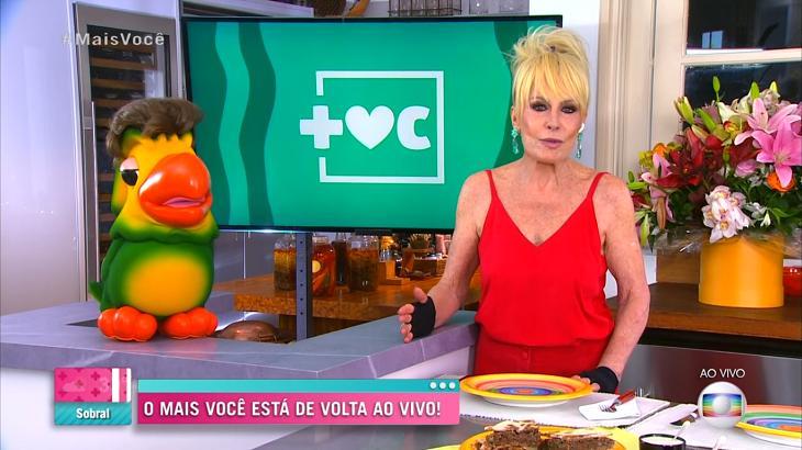Ana Maria Braga apresentando o Mais Você com Louro José