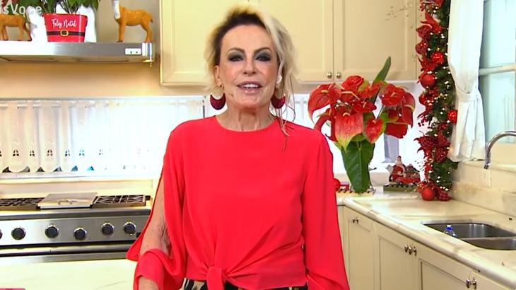 Ana Maria Braga dentro da cozinha durante o Mais Você na Globo