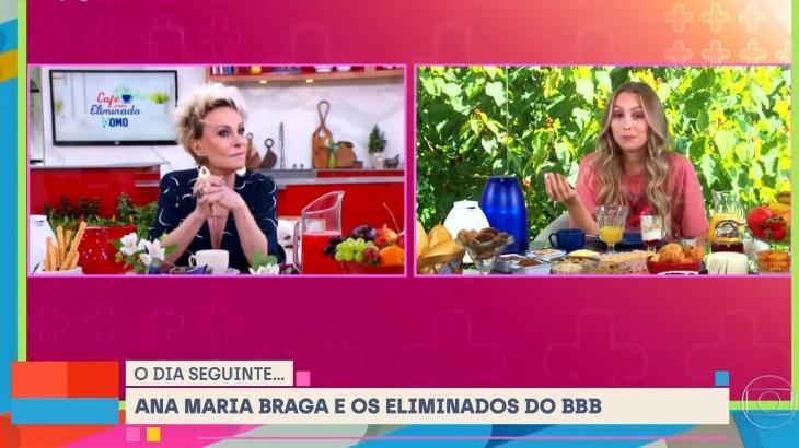 Ana Maria Braga entrevista Carla Diaz no Mais Você
