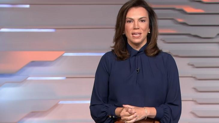 Ana Paula Araújo comandando o Bom Dia Brasil