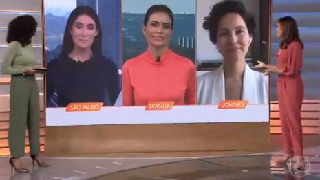 Ana Paula Araújo no Bom Dia Brasil anunciando mudanças