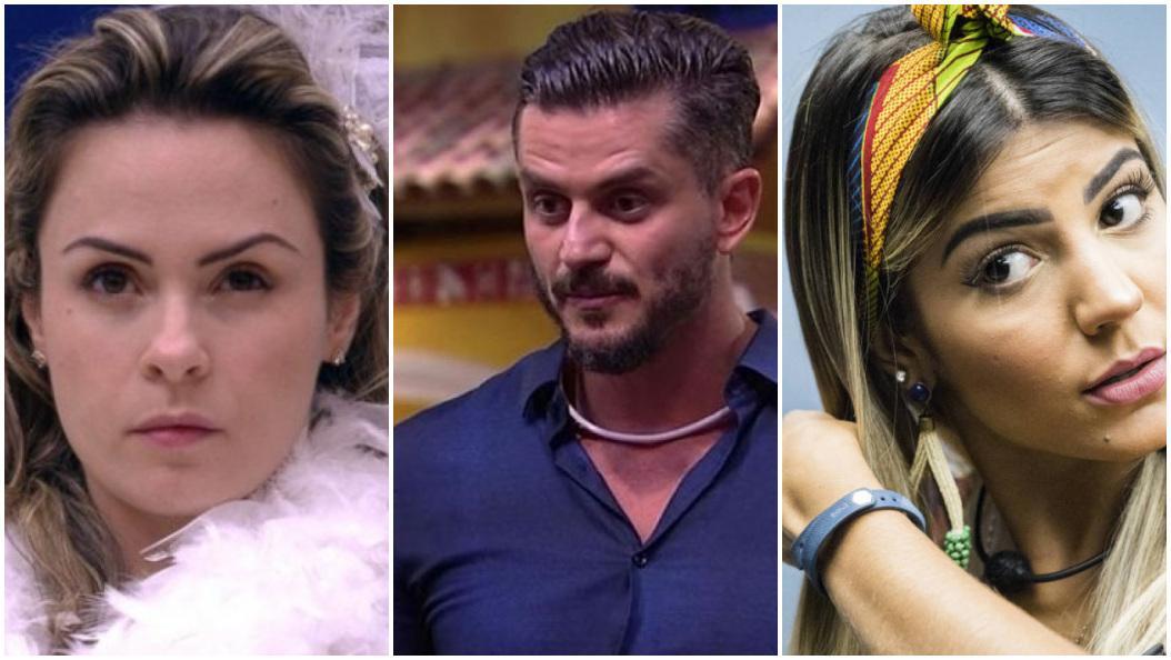 Ana Paula Renault, Marcos e Harter e Hariany Almeida no confinamento do BBB