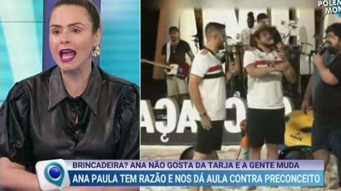 """Ana Paula Renault dá bronca na produção do Fofocalizando: """"Não é brincadeira"""""""