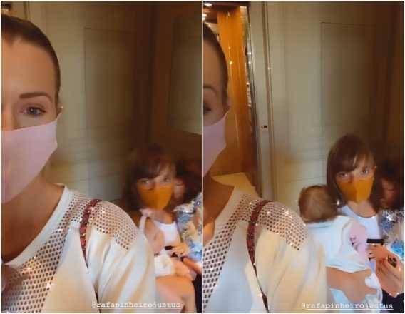 """Filha de Ticiane Pinheiro e Roberto Justus dá susto sem querer na madrasta: \""""Ela estava com a bebê no colo\"""""""