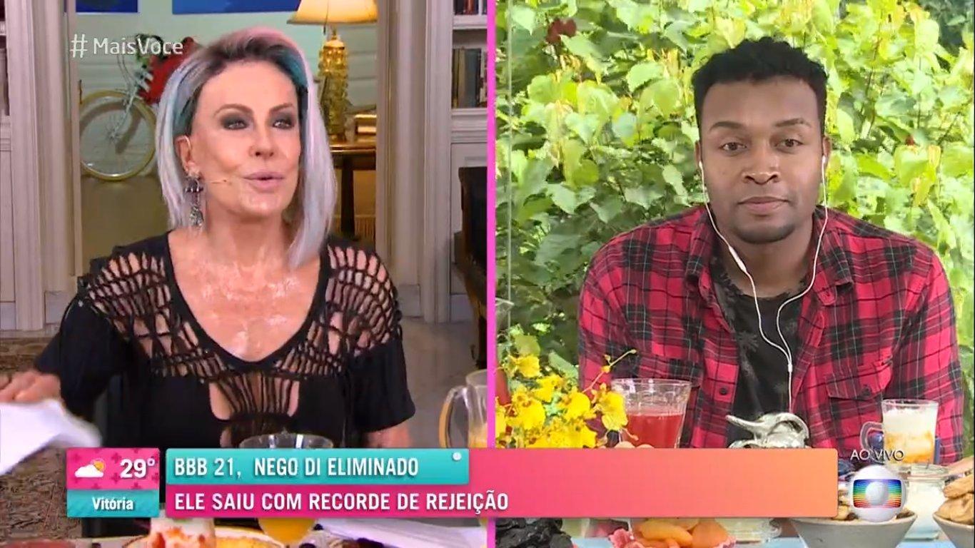 Nego Di e Ana Maria Braga ao vivo no Mais Você