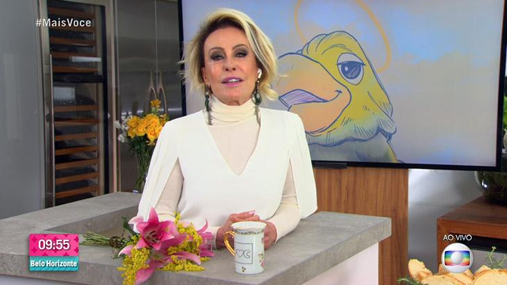 Ana Maria Braga homenageia Tom Veiga, o Louro José, no Mais Você