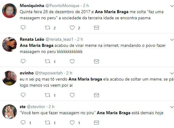 """Ana Maria Braga paga mico e solta no \""""Mais Você\"""": \""""faz uma massagem no peru\"""""""