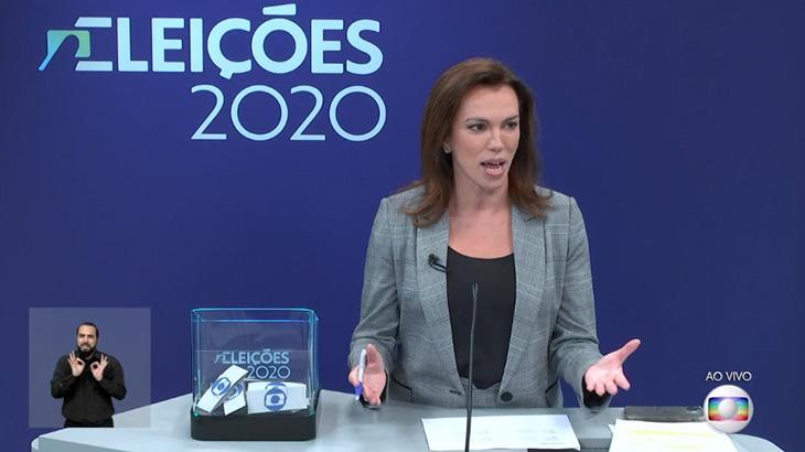 Ana Paula Araújo foi a mediadora do debate entre Marcelo Crivella e Eduardo Paes no Rio de Janeiro