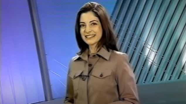 Ana Paula Padrão em sua primeira chamada no SBT em 2005