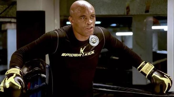 Anderson Silva treinando boxe