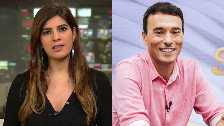 Andréia Sadi e André Rizek em foto montagem