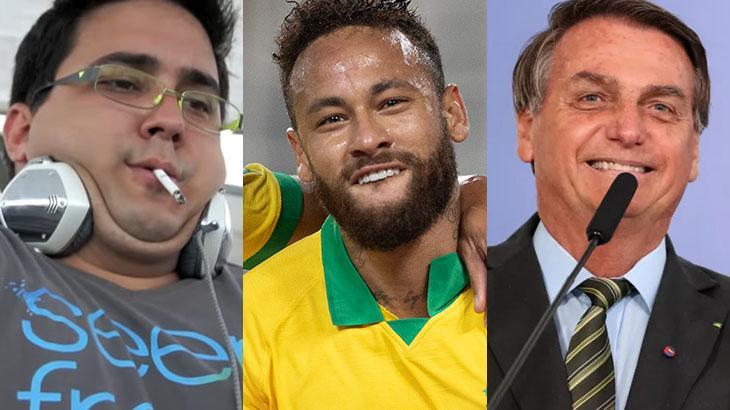 André Marques, Neymar e Jair Bolsonaro