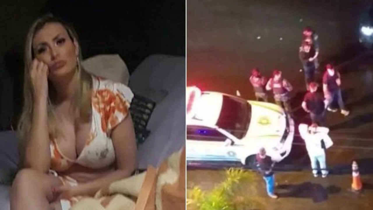 Andressa Urach em casa e confusão com a polícia