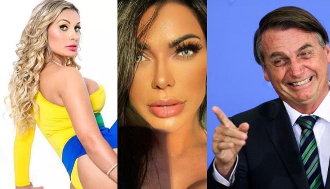Andressa Urach, Suzy Cortez e Jair Bolsonaro