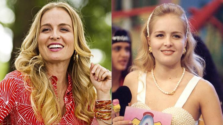 Angélica atualmente (à esquerda) e Angélica antigamente (à direita) em foto montagem