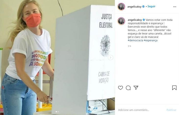"""Eleições 2020: Famosos vão às urnas e comentam na web: \""""Ano diferente\"""""""