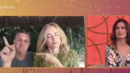 Luciano Huck e Angélica no Encontro
