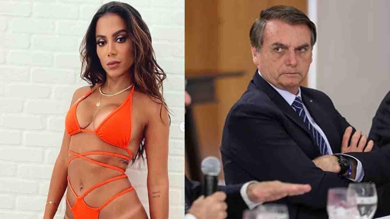 Anitta de biquíni; Bolsonaro sério