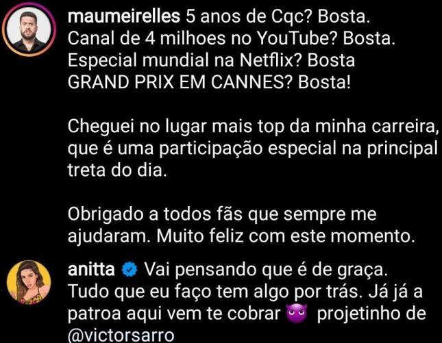 "Ludmilla sofre ataque após polêmica com Anitta e enfrenta: \""Racista\"""