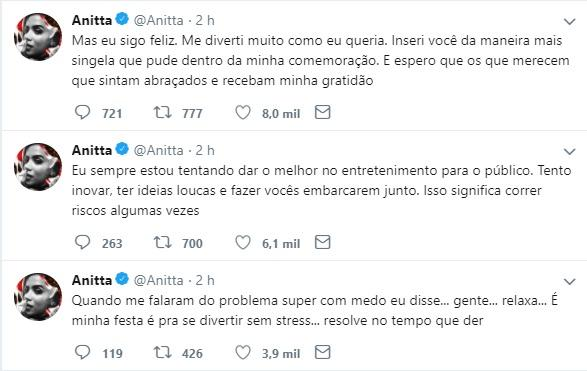 Anitta desabafa sobre críticas no lançamento de seu novo clipe