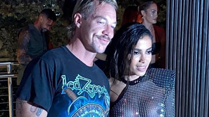 DJ Diplo e Anitta em festa em Miami