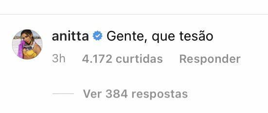 "BBB21: Anitta comenta sobre Arthur: ""Que tesão"""