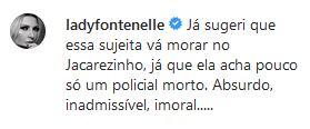 """Daniela Lima comenta operação no Jacarezinho e é criticada na web: \""""Parece piada\"""""""