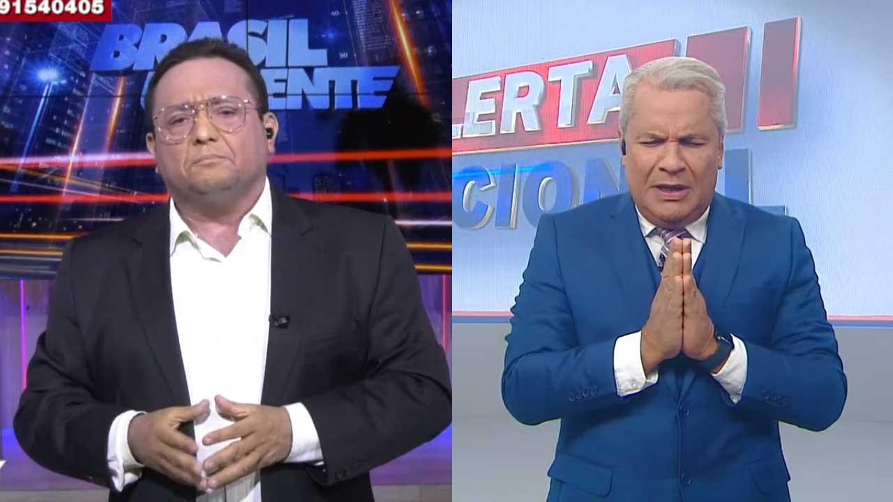 Jacson Damasceno no Brasil Urgente; Sikêra Jr fazendo oração no Alerta Nacional