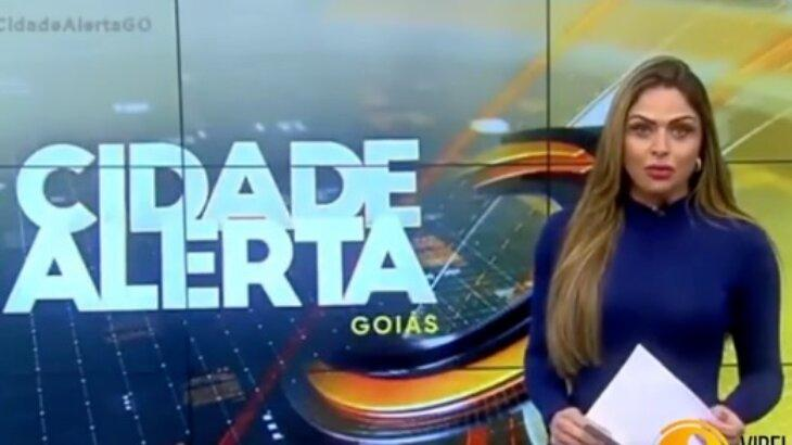Silvye Alves durante o Cidade Alerta Goiás