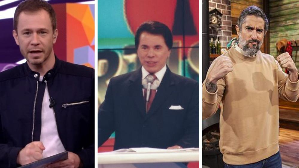 Tiago Leifert, Silvio Santos e Marcos Mion