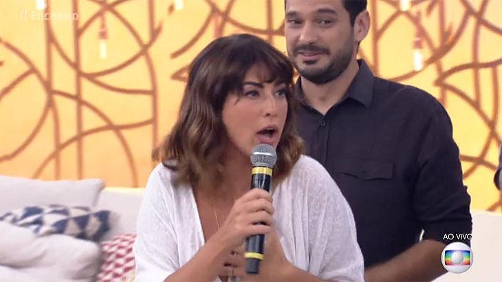 """Fernanda Paes Leme solta palavrão no \""""Encontro\"""" e surpreende Ana Furtado"""
