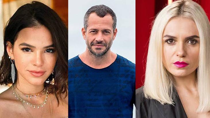 Bruna Marquezine, Malvino Salvador e Mônica Iozzi