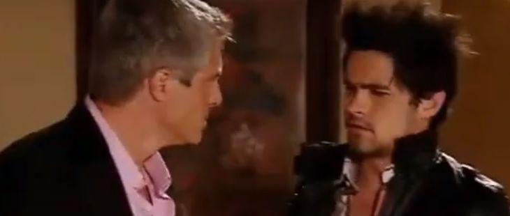 """Quando me Apaixono: Augusto tira a máscara e expulsa o filho: \""""Vá embora!\"""""""