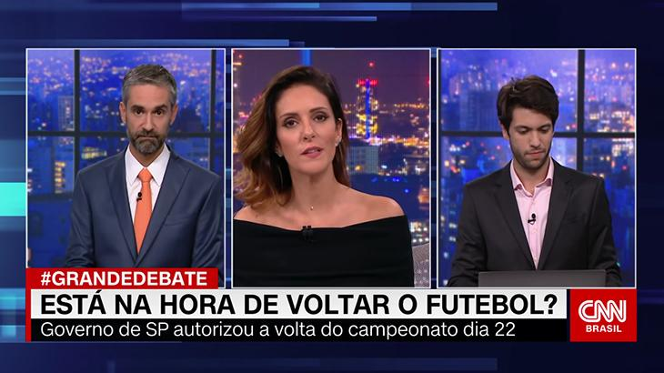 Augusto de Arruda Botelho, Monalisa Perrone e Caio Coppolla em O Grande Debate