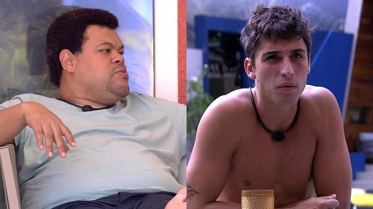 Felipe Prior e Babu Santana durante o reality show BBB20