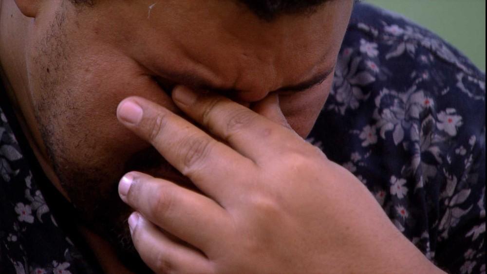 Babu Santana chorando no BBB20