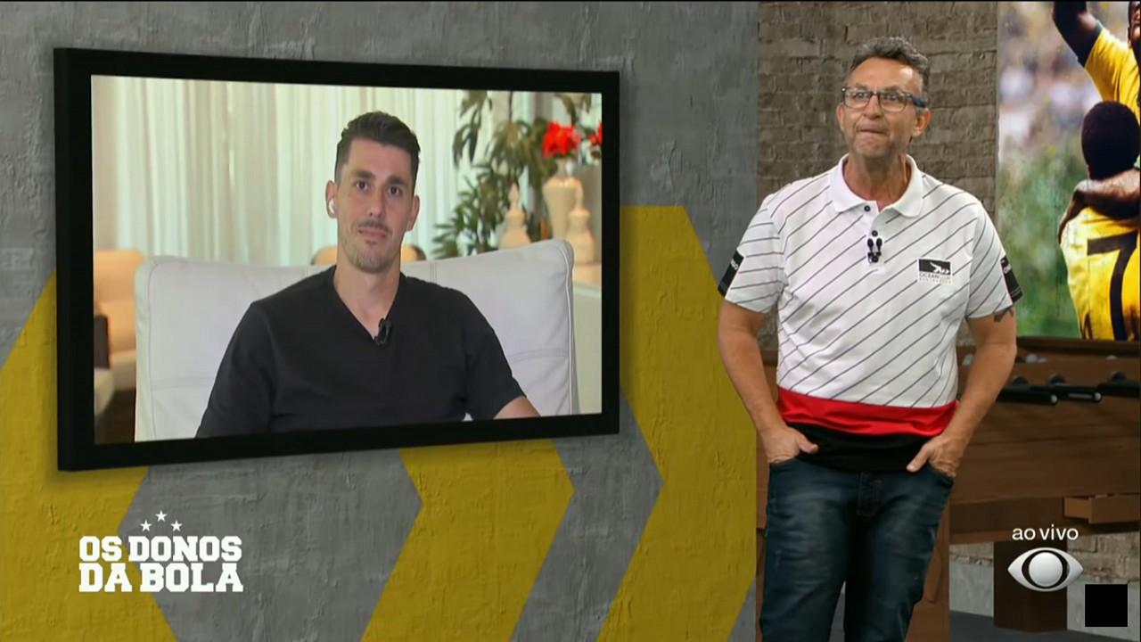 Neto e Danilo Avelar no programa Os Donos da Bola