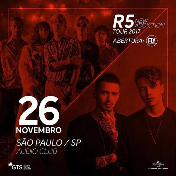 Música: R5 e Fly se apresentam neste fim de semana em São Paulo